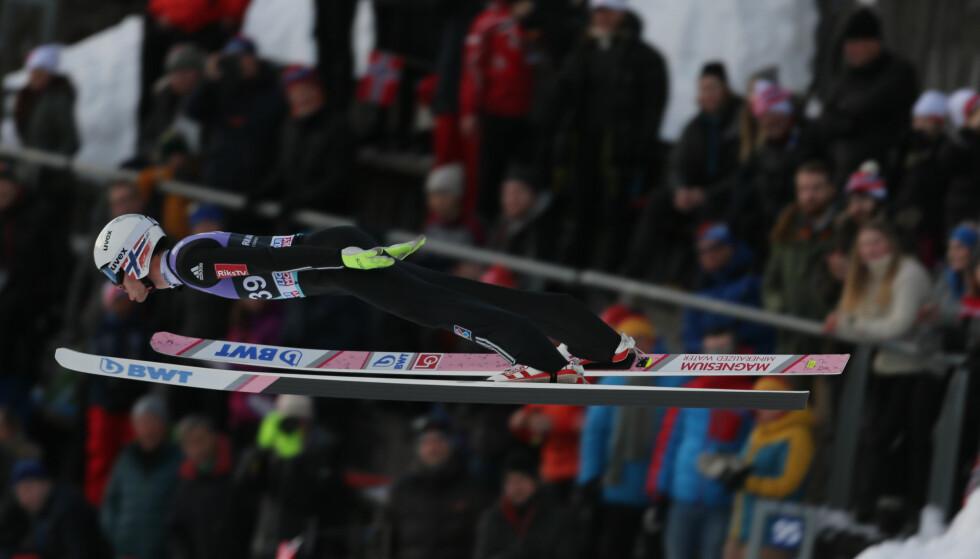 BEST AV DE NORSKE: Andreas Stjernen ble nummer to under dagens kvalifiseringsrenn i Granåsen. Foto: Geir Olsen / NTB scanpix