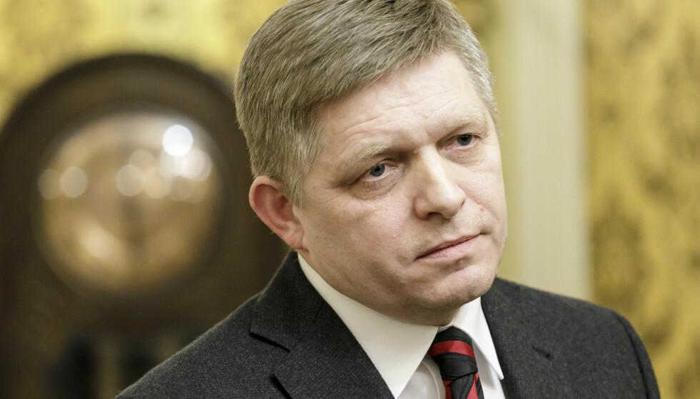 GÅR AV: Slovakias statsminister Robert Fico har varslet at han går av. Foto: AP / NTB scanpix