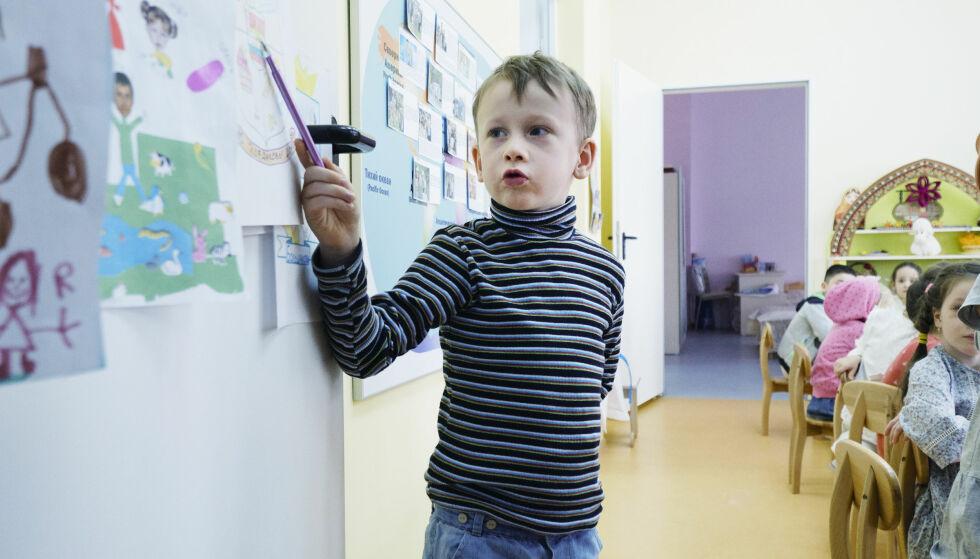 ASTRONOM: Seks år gamle Ilja Kurdakov skal bli astronom når han blir stor. Foto: Sergej Gratsjov / Dagbladet