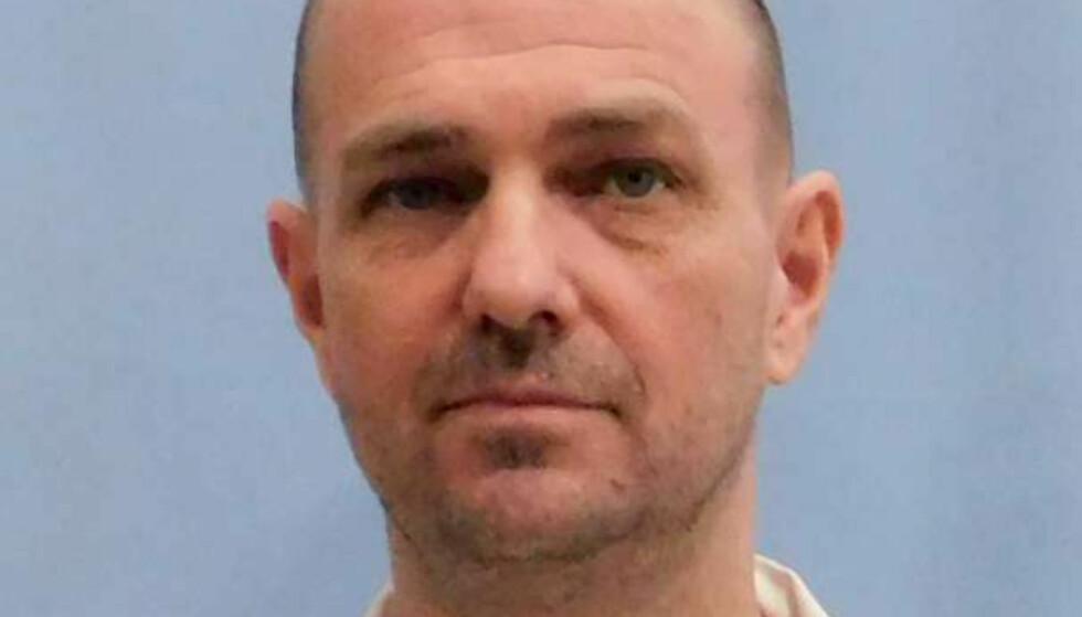 HENRETTET: Drapsdømte Michale Wayne Eggers ble henrettet med en giftsprøyte i Alabama torsdag kveld. Foto: Alabama Department of Corrections/Handout