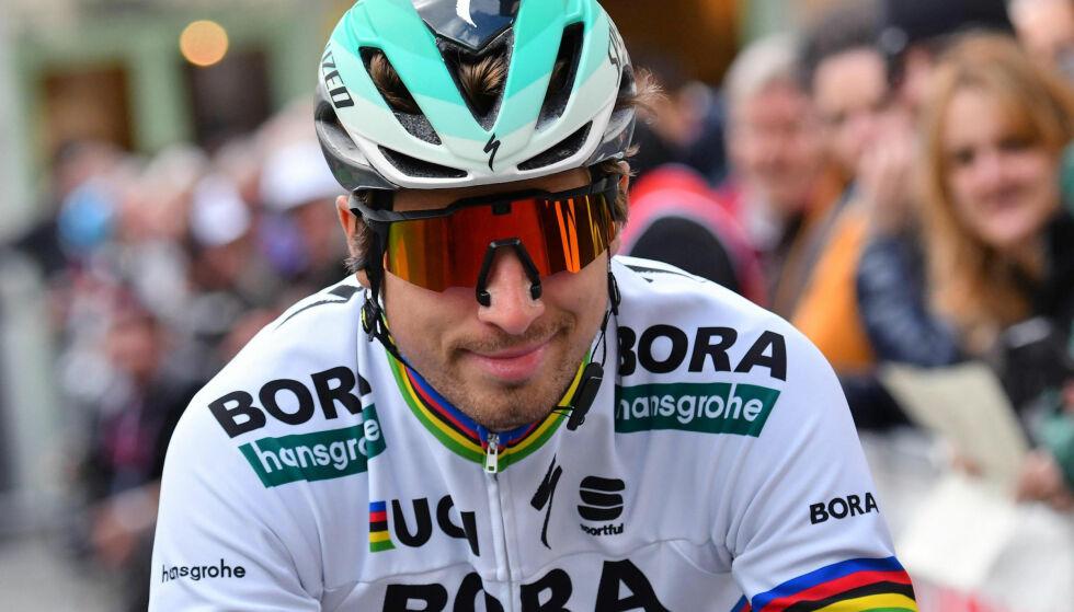 SUPERSAGAN: Peter Sagan har prøvd og prøvd i Milano-Sanremo, men seieren venter han fremdeles på. Foto: Dario Belingheri/ANSA via AP
