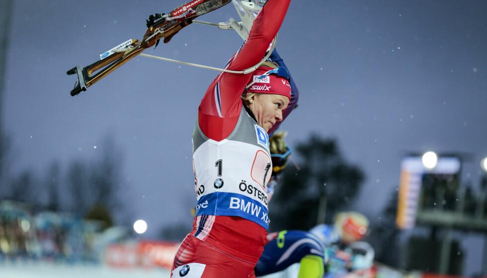 BESTE NORSKE: Kaia Wøien Nicolaisen. Foto: Marie Birkl/TT / NTB scanpix
