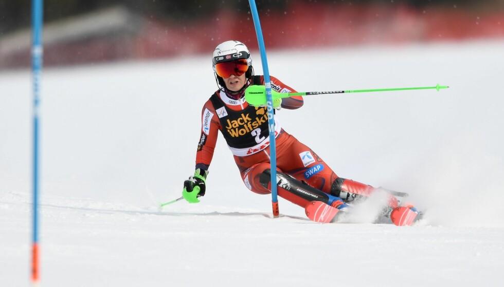 FJERDEPLASS: Nina Haver-Løseth ble nummer fire i verdenscupfinalen i slalåm. Mikaela Shiffrin vant overelegent. Foto: NTB Scanpix