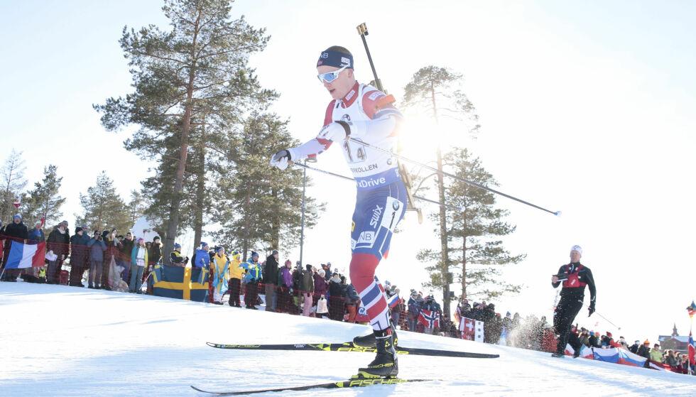 TIL RUSSLAND: Johannes Thingnes Bø og de norske løperne er klare for russiske løyper. Flere nasjoner boikotter. Foto: Håkon Mosvold Larsen / NTB scanpix