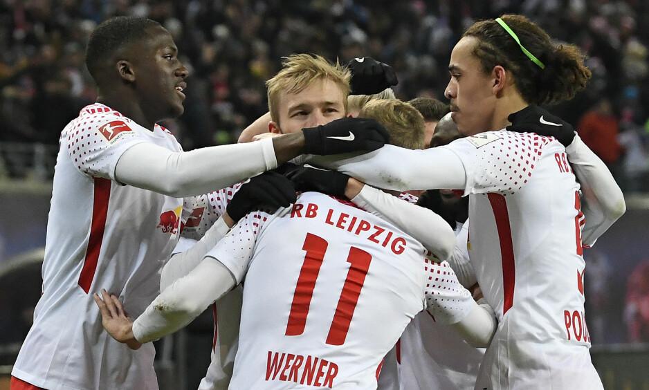 SLO BAYERN: Timo Werner ble matchvinner da Leipzig påførte Bayern München sitt første tap siden november. Foto: NTB Scanpix/AP Photo/Jens Meyer