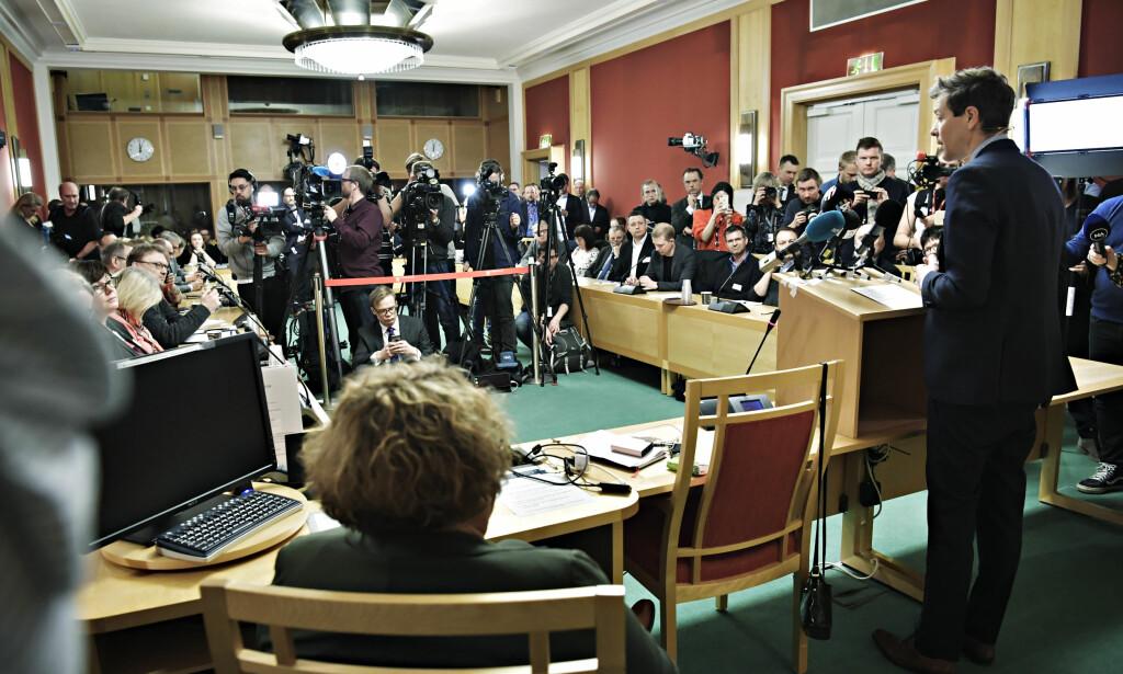 LANDSSTYRE: KrFs landsstyre holder møte på Stortinget nå. Foto: Lars Eivind Bones / Dagbladet