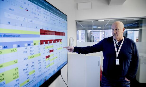 OVERRASKET: Ole Einar Adamsrød, forbundssekretær i Transportarbeiderforbundet studerete avvikene hos Veireno på arbeidstidsbestemmelsene, som Dagbladet presenterte for ham vinteren 2016. Foto: Bjørn Langsem / Dagbladet
