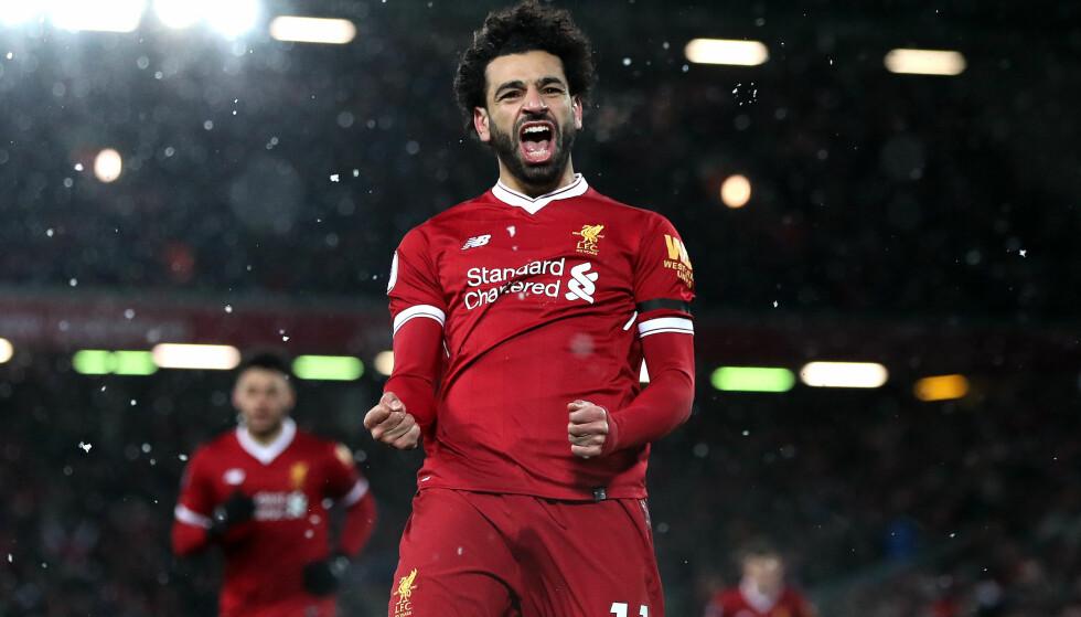STORSCORER: Mohamed Salah er toppscorer i Premier League denne sesongen. Nå snuser han på rekorden til Andy Cole og Alan Shearer. Foto: Paul Greenwood/BPI/REX/Shutterstock