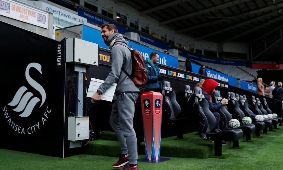 LEVER I SKYGGEN AV HARRY KANE: Tottenhams Fernando Llorente. Foto: Reuters/Andrew Couldridge/NTB Scanpix