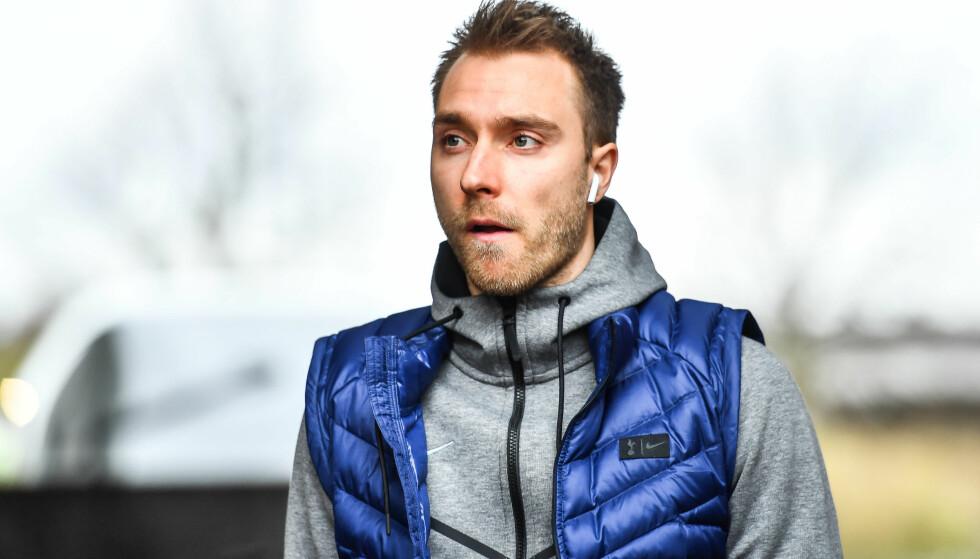 HELT DER OPPE? Tottenhams Christian Eriksen. Det mener i alle fall Åge Hareide. Foto: Craig Thomas/JMP for FA/REX/Shutterstock