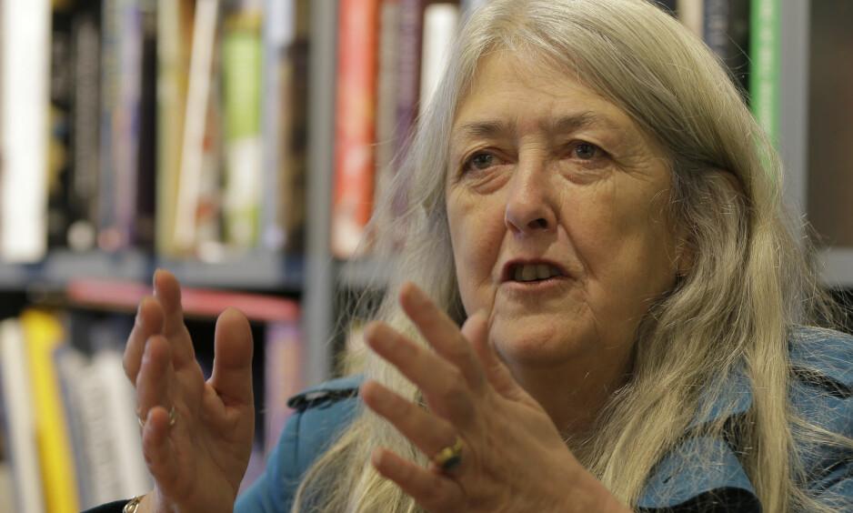 AKTUELL: Mary Beard (62) er en kjent og respektert britisk historieprofessor, feminist og mediepersonlighet som nå er aktuell i Norge med boken Kvinner & Makt – Et manifest på Cappelen Damm. På BBC vises nå serien Civilisations, der hun medvirker sammen med David Olusoga og Simon Schama.Foto: NTB Scanpix