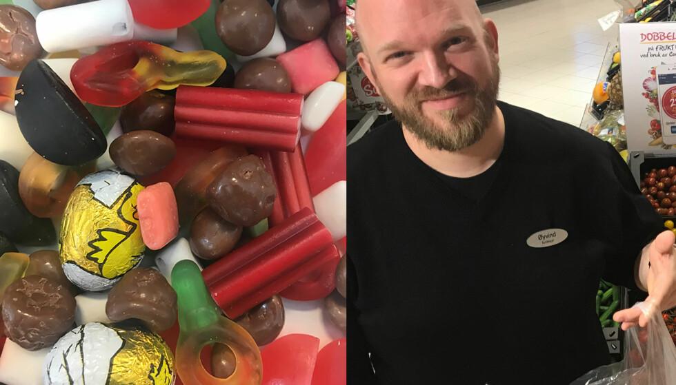 TOK GREP: Øyvind Nøstmyr så at kundene tømte butikken for billig godteri. Da han begynte å selge minigrønnsaker på tilsvarende måte, opplevde han at salget eksploderte. Foto: Privat