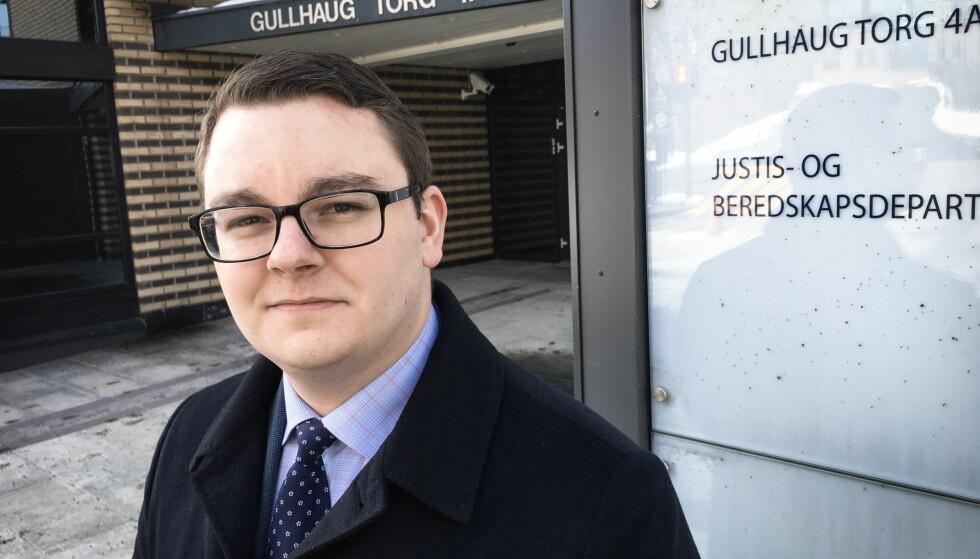GÅR AV: Espen Teigen slutter som politisk rådgiver for Sylvi Listhaug. Foto: Øistein Norum Monsen / Dagbladet