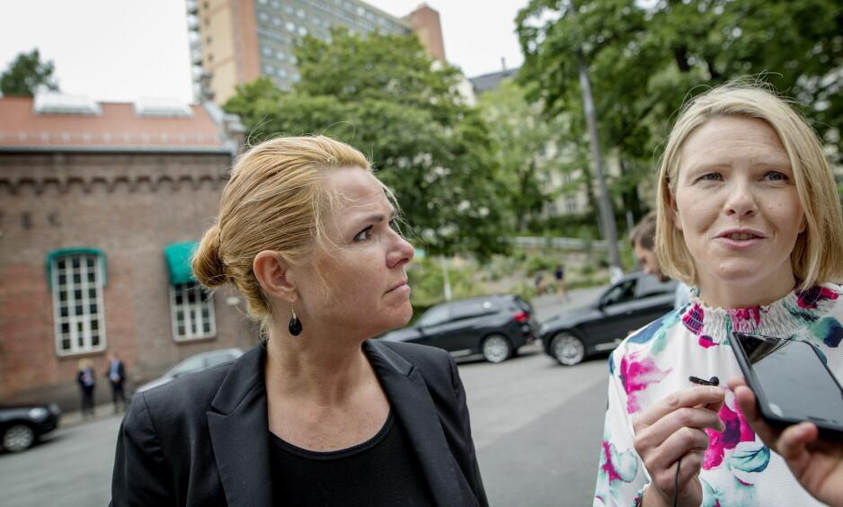 SAMMEN I OSLO: Sylvi Listhaug fikk besøk av sin danske kollega, Inger Støjberg i fjor sommer. Foto: Anita Arntzen / Dagbladet