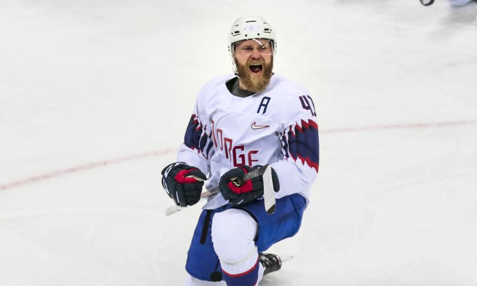 STORFORM: Patrick Thoresen har tre assists på de to siste kampene for SKA St. Petersburg i kvartfinalekampene. Bildet er fra vinterens OL i Pyeongchang. Foto: Lise Åserud / NTB scanpix