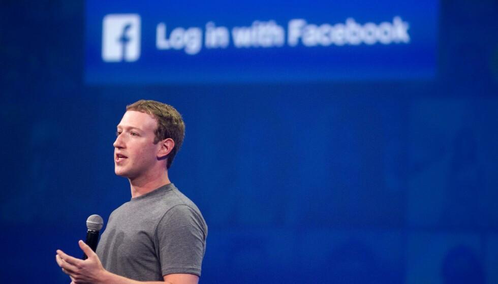 STUPER: Mark Zuckerbergs Facebook har hatt en mildt sagt tung uke på børsen. Foto: AFP / NTB Scanpix