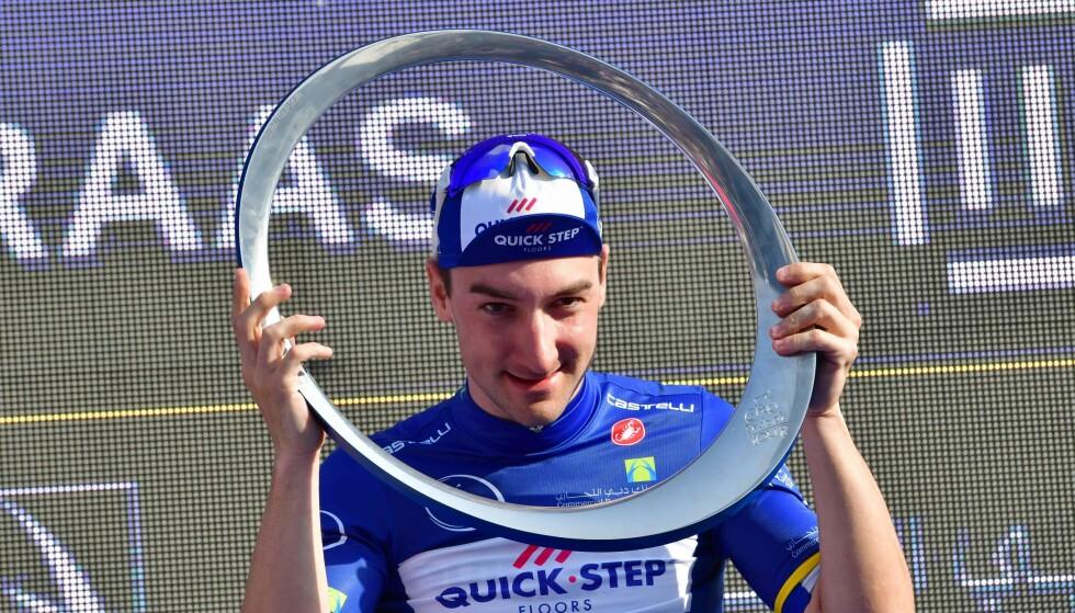 STORFAVORITTEN: Elia Viviani var den beste spurteren med i årets De Panne. Italieneren sykler for belgiske Quick Step. Og selvsagt vant han! FOTO:. / AFP PHOTO / GIUSEPPE CACACE