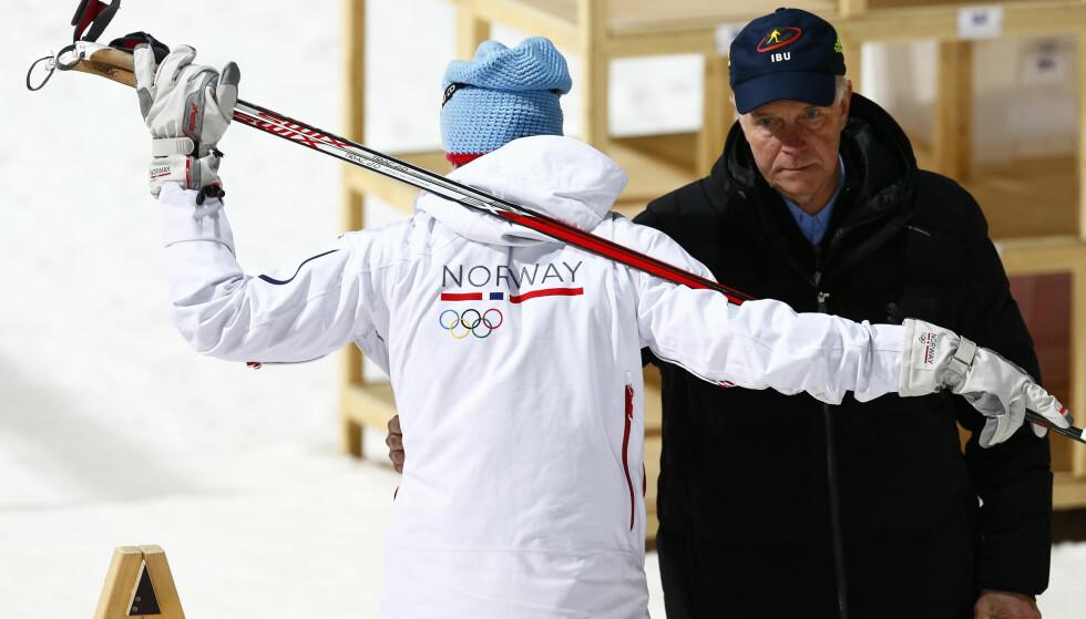 BEVISST VALG: IBU-president Anders Besseberg har tatt idretten sin med til Russland selv om de andre WADA-lederne ønsker å holde de internasjonale prestisjekonkurransene unna landet for å legge press på russerne. FOTO: Heiko Junge / NTB scanpix