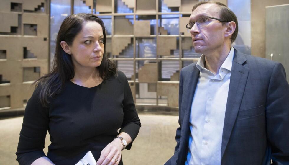 VANT FRAM: Else-May Botten og Espen Barth Eide i Ap. Foto: NTB Scanpix