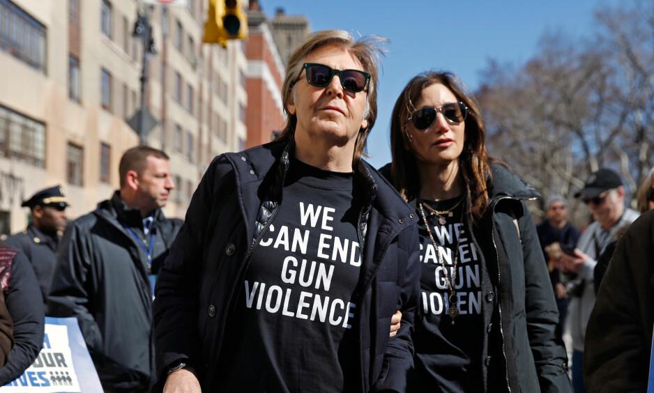Personlig: Paul McCartney forteller at han støttet lørdagens demonstrasjon av personlig årsaker. Foto: NTB Scanpix
