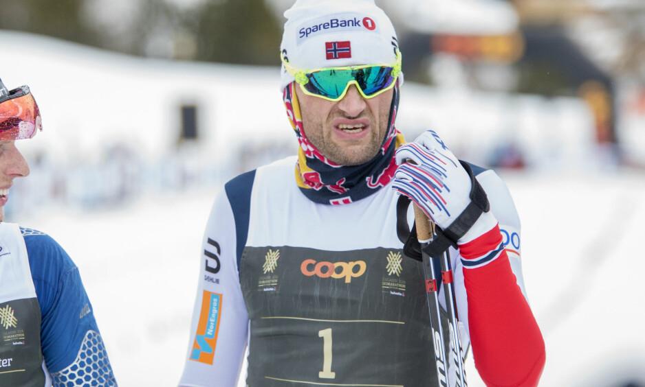 SEIER: Petter Northug gikk inn til seier i Flyktningerennet. Foto: Ørjan Ellingvåg / NTB Scanpix