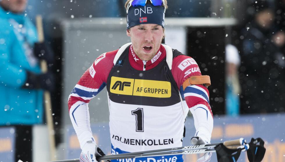 NUMMER TO: Erlend Øvereng Bjøntegaard ble nummer to på fellesstarten. Foto: Berit Roald / NTB scanpix