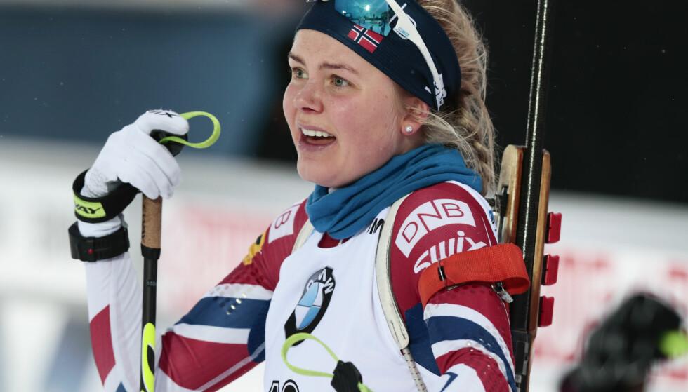 GULL: Hilde Fenne vant NM-gull på normaldistansen fredag. Bildet er fra et tidligere renn. Foto: Lise Åserud / NTB scanpix