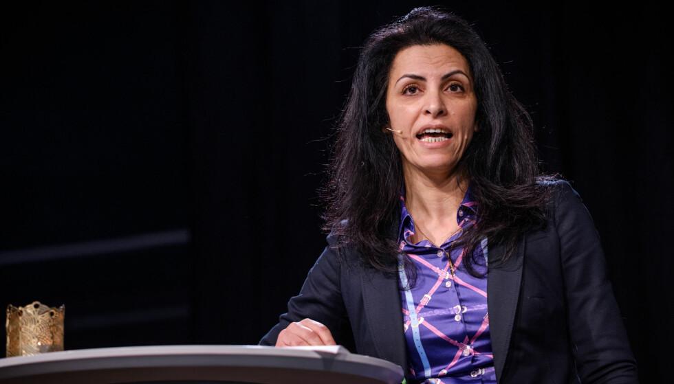 NETTVERK: Forfatter og professor Afaf Jabiri var en av flere kvinneaktivister som var samlet i Oslo i helgen for å starte et nytt nettverk for kvinnekamp i arabiske land. Foto: Johannes Granseth