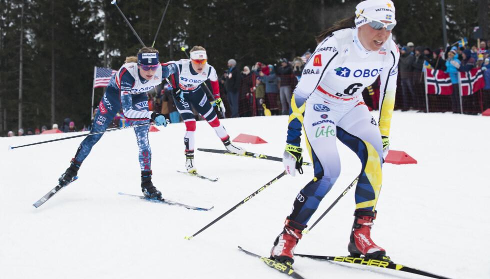 SUVEREN: Charlotte Kalla vant enda et SM-gull. Her i verdenscupen tidligere i vinter. Foto: Berit Roald / NTB scanpix