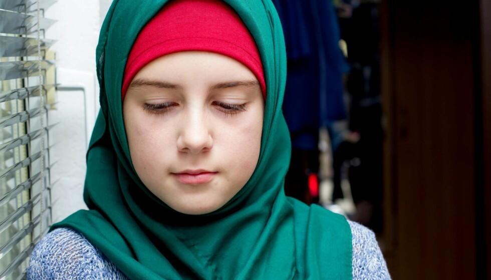 LITEN GRUPPE: Ved å forby hijab ville jeg bidra til ekskludering og marginalisering av en liten gruppe elever som i utgangspunktet er sårbare, skriver artikkelforfatteren. Illustrasjonsfoto: NTB scanpix