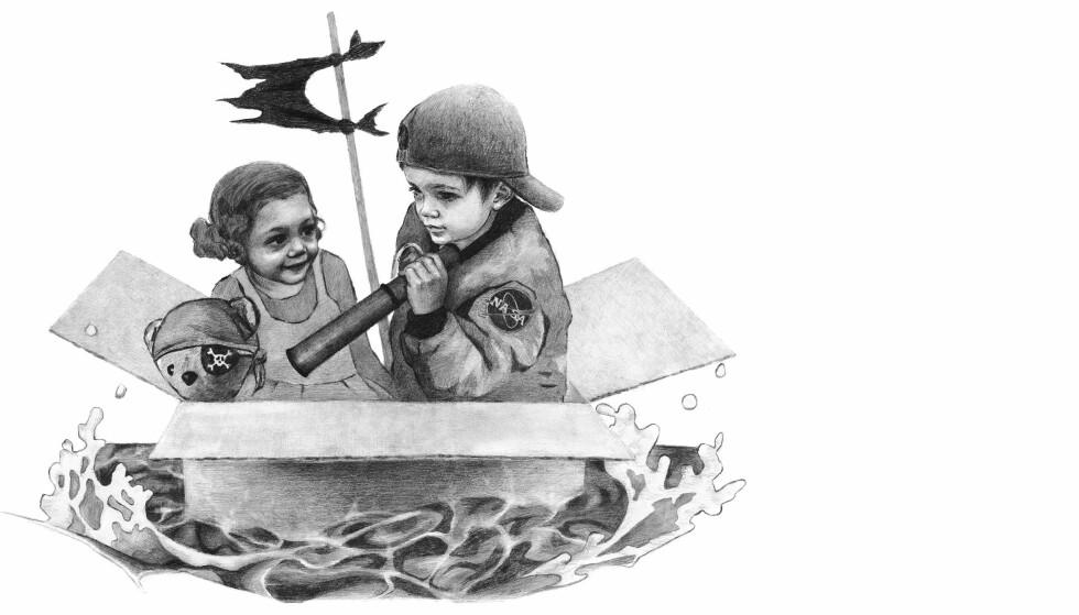 DEBUT: Kristin Bortolotti er en dyktig tegner, men debutboka hennes kunne hatt mer på hjertet. Illustrasjon fra boka