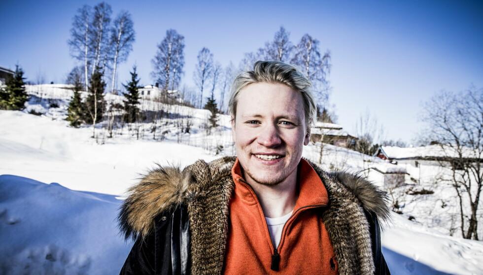 SATSER FOR FULLT: Simen Ramberg Christensen slo barndomskompisen Henrik Kristoffersen i NM. Det gir motivasjon for tiden som kommer. Foto: Christian Roth Christensen