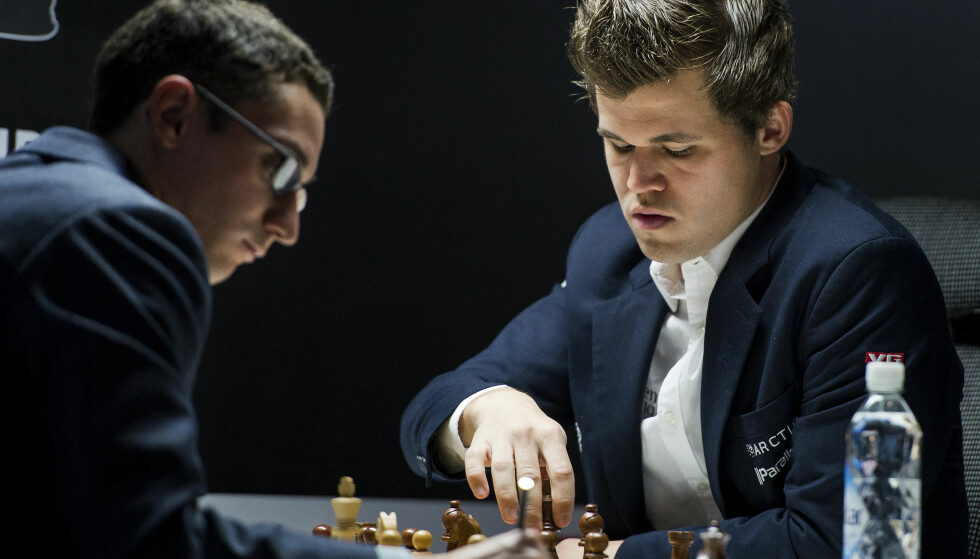 FORSMAK: Allerede lørdag får vi en forsmak på VM-oppgjøret mellom Fabiano Caruana og Magnus Carlsen. Foto: Carina Johansen / NTB scanpix