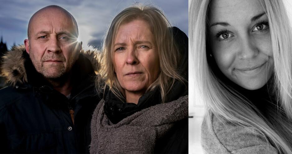 MISTET DATTEREN: Bjørn Ole Mathisen og Lena Fauskrød har siden datteren Siljes død i 2014 kjempet en hard kamp for en ordentlig rettsprosess. Foto: Bjørn Langsem / Dagbladet, privat