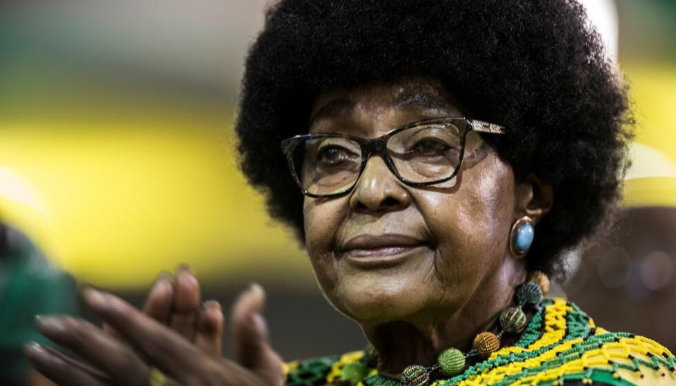 DØD_ Winnie Mandela ble 81 år gammel. Her er hun avbildet under årsmøtet til partiet ANC i desember i fjor. Foto: AFP / GULSHAN KHAN / NTB Scanpix