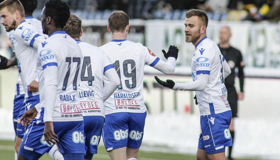 MATCHVINNER: Frederik Gytkjær ble matchvinner for Haugesund. Foto: Mats Torbergsen / NTB scanpix