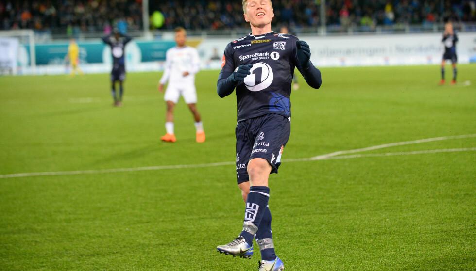 SNUDDE KAMPEN: Torgil Gjertsen snudde til seier for Kristiansund. Foto: Anders Tøsse / NTB scanpix