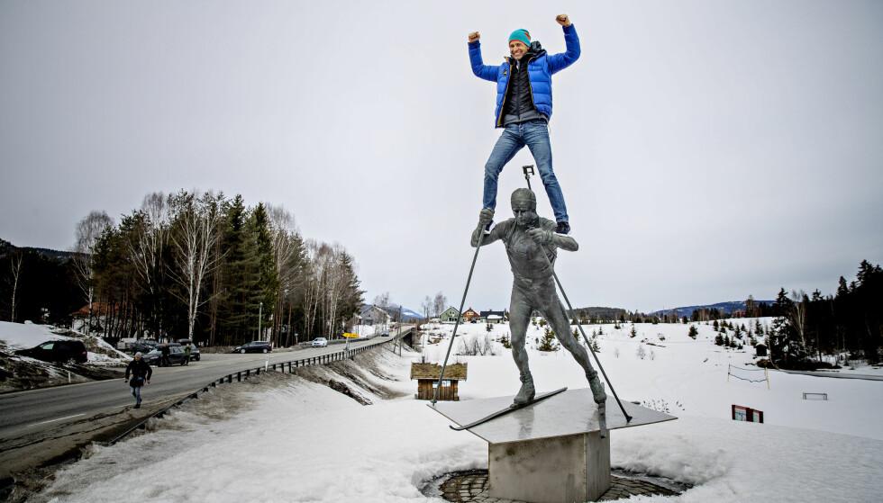 «KONGEN AV SKISKYTING»: Ole Einar Bjørndalen hylles av medier over hele Europa etter at det i dag ble klart at skiskytterkarrieren er over. Foto: Bjørn Langsem / Dagbladet