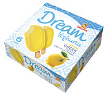 <strong>FRISK:</strong> Dream yoghurtis med trekk av sitron.
