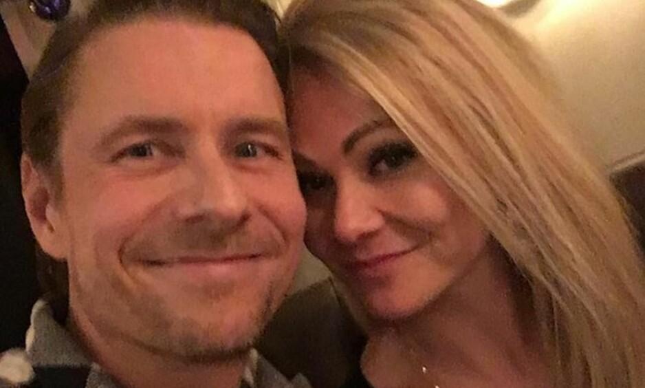 KJÆRLIGHETEN BLOMSTRER: TV-profil Reidar Buskenes har funnet lykken med Kari Fosse. Foto: Instagram