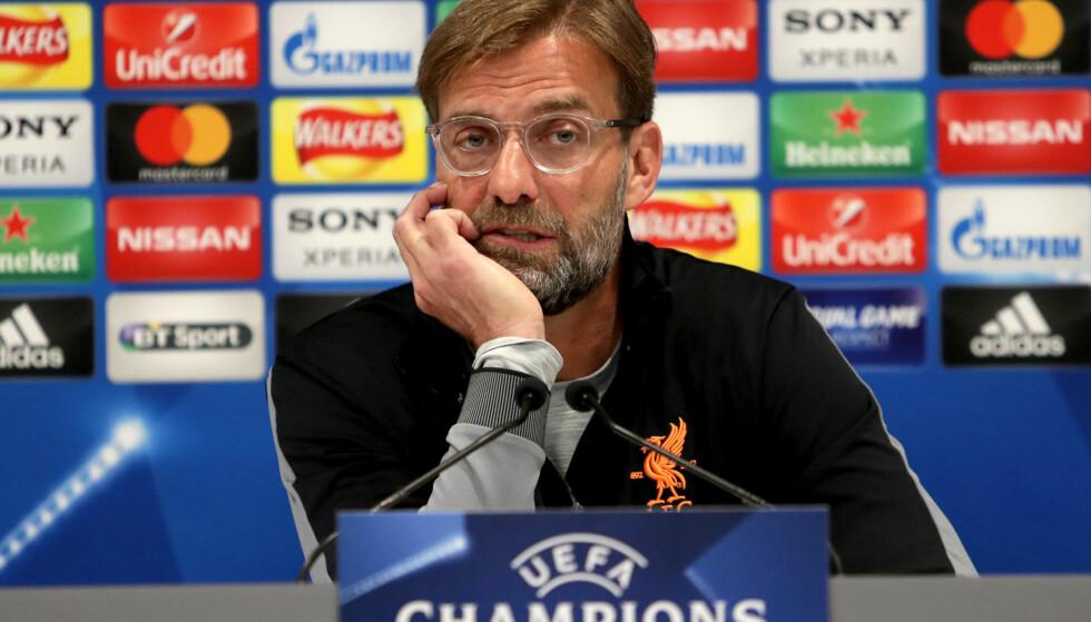 FEM TAP PÅ RAD: Jürgen Klopp har en dårlig statistikk i finaler de siste årene. Vil han klare å snu den vonde trenden for Real Madrid 26. mai? Foto: Richard Sellers/PA Wire