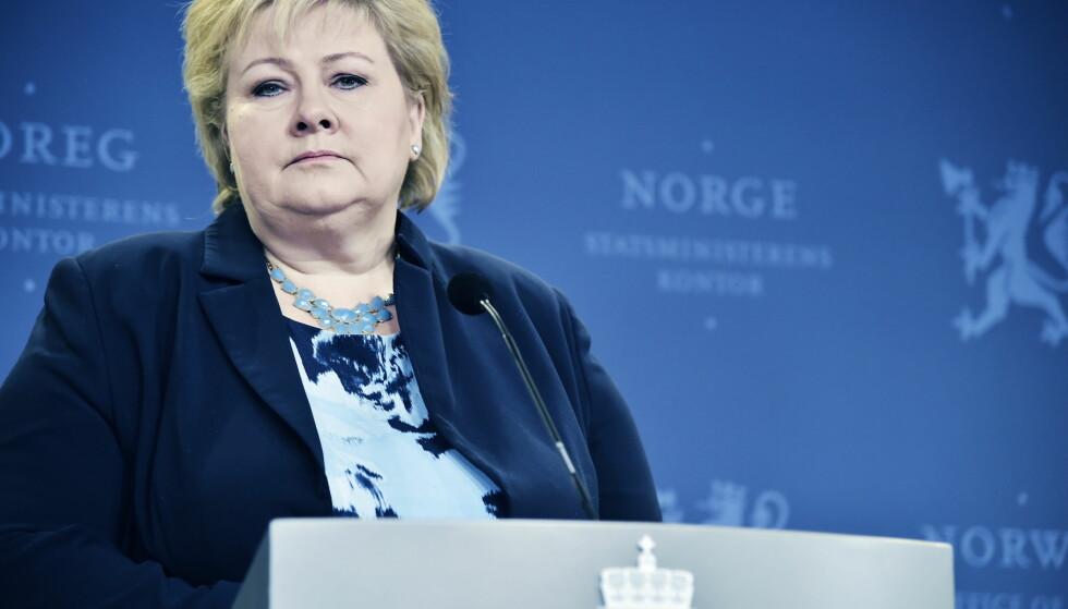 KORREKTIV: Erna Solberg (H) fikk korrektiver fra eget landsmøte, men ikke kritikk. Foto: Hans Arne Vedlog / Dagbladet