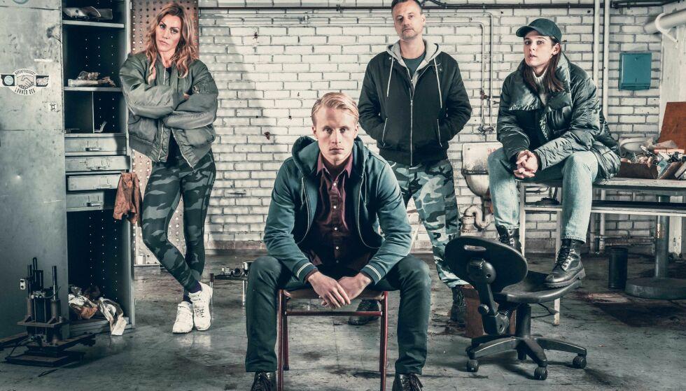 HOVEDROLLER: Fra venstre: Silje Torp, Odin Waage, Jesper Malm og Inga Ibsdottir Lillaas spiller i krimserien «Rekyl». Foto: TV3