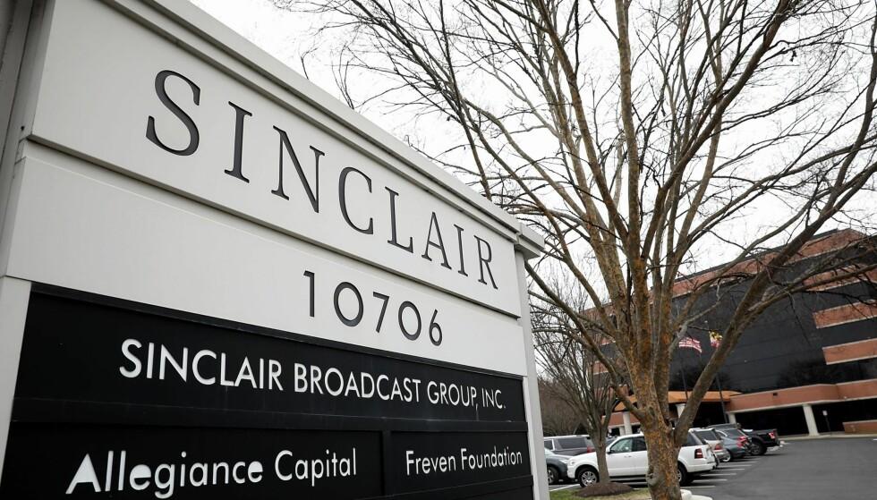 HOVEDKVARTER: Mediekonsernet Sinclair Broadcast Group holder til i Maryland og er USAs største eier av lokale TV-stasjoner. Foto: AFP / NTB Scanpix