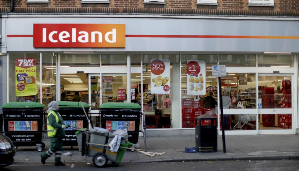 TIl NORGE: Den britiske kjeden Iceland åpner butikker i Norge før sommeren. Foto: AP Photo/Matt Dunham