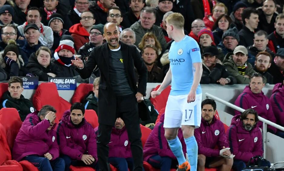 SVAK KAMP: Kevin De Bruyne klarte ikke å sette preg på kampen mot Liverpool slik han pleier. Foto: Anthony Devlin/AFP/NTB SCanpix