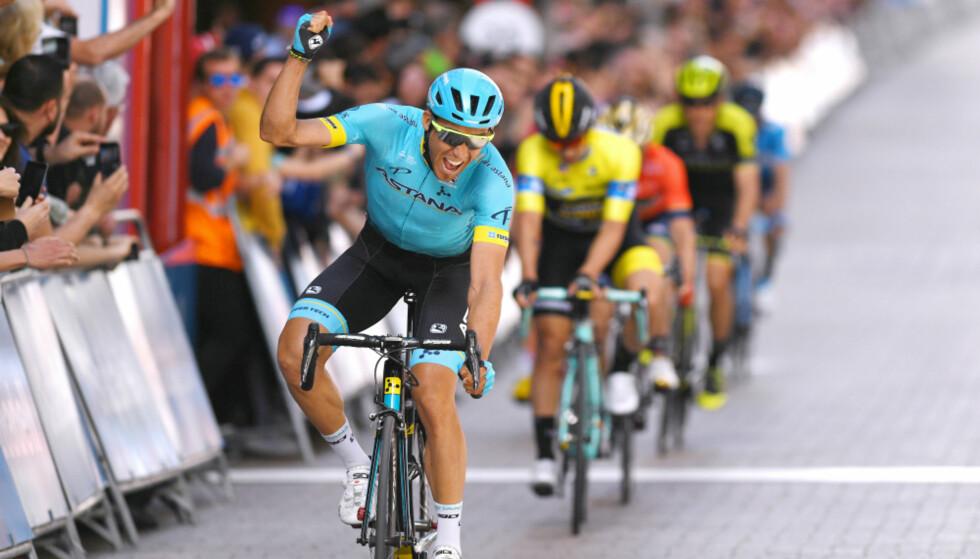 SEIRET: Omar Fraile (Astana) tok seieren på den femte etappen av Baskerland rundt. FOTO: Tim de Waele (TDWSport.com)