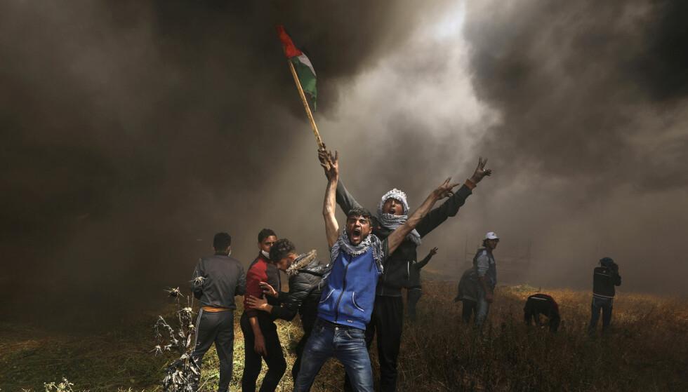 DEMONSTRASJON: Forrige fredag kostet den første demonstrasjonen 17 menneskeliv. Under dagens demonstrasjon skal sju personer ha mistet livet. Foto: REUTERS/Mohammed Salem