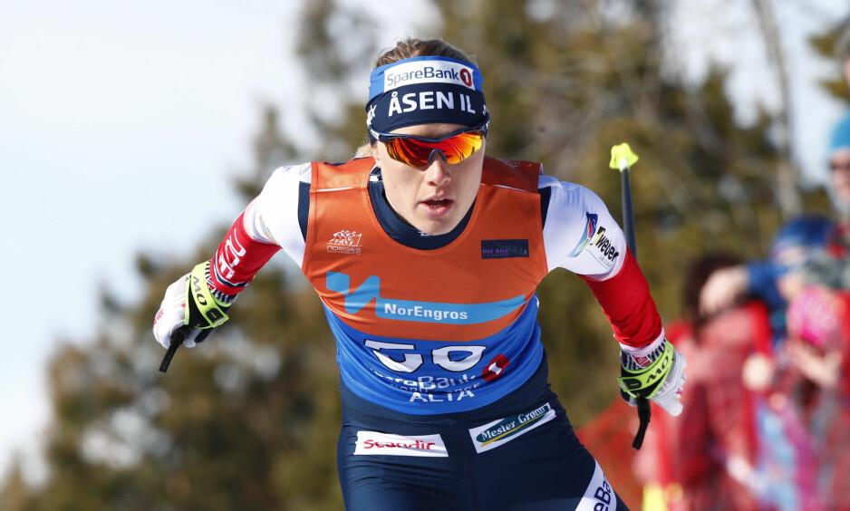 GIKK FORT: Ingen kunne følge Ragnhild Haga på 30 km fri teknikk under NM i Alta. Foto: Terje Pedersen / NTB scanpix