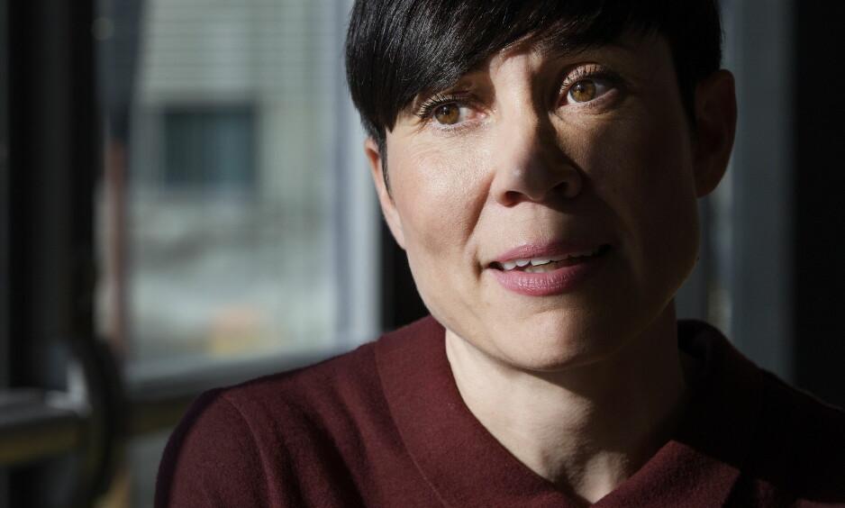 DEN NYE NORMALEN: Ine Eriksen Søreide sier verden i 2018 har en rekke uromomenter som har blitt en del av den nye normalen rundt Norge. Foto: Henning Lillegård / Dagbladet .